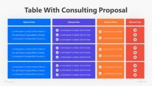 Table With Consulting Proposal Infographic Template