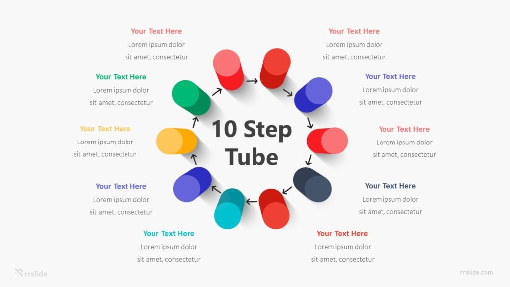 Ten Step Tube Infographic Template