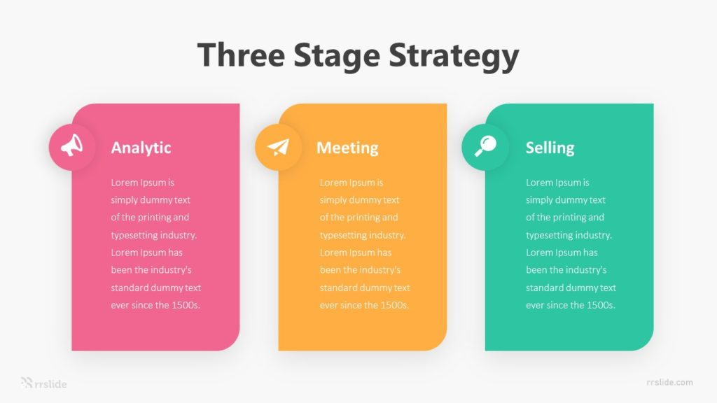 Three Stage Strategy Infographic Template