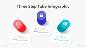 Three Step Tube Infographic Template