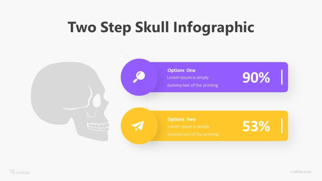 Two Step Skull Infographic Template