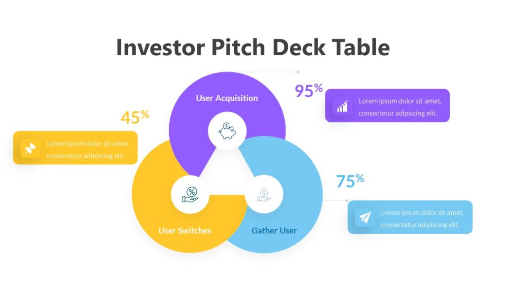 Investor Pitch Deck Table Infographic Template