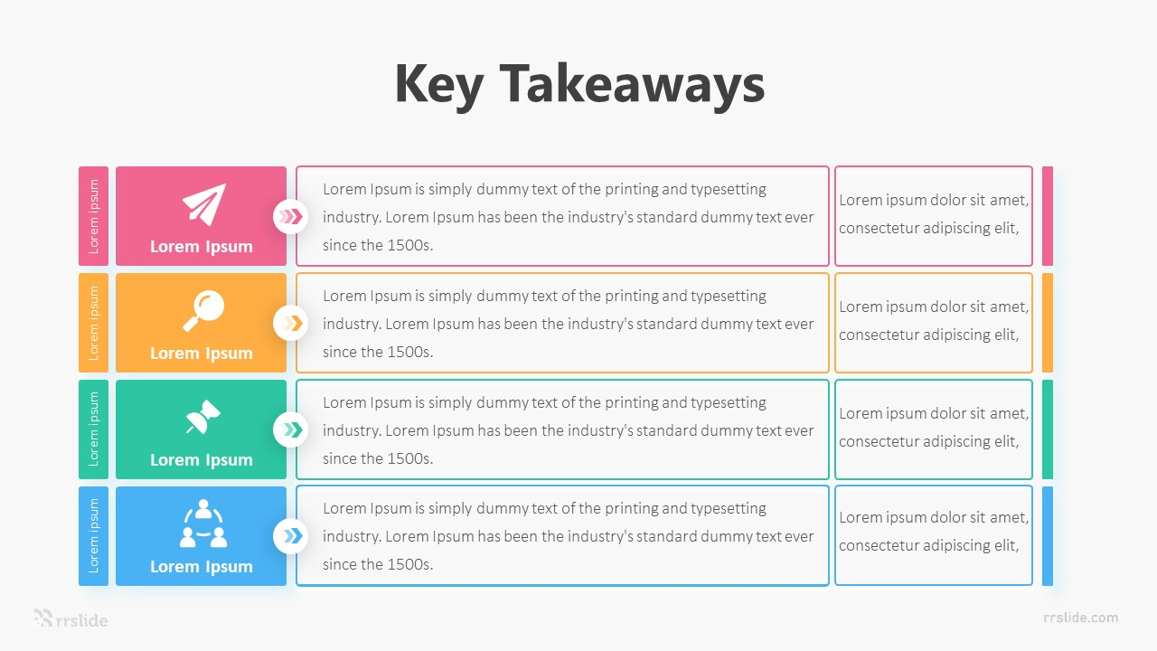 Key Takeaways Infographic Template