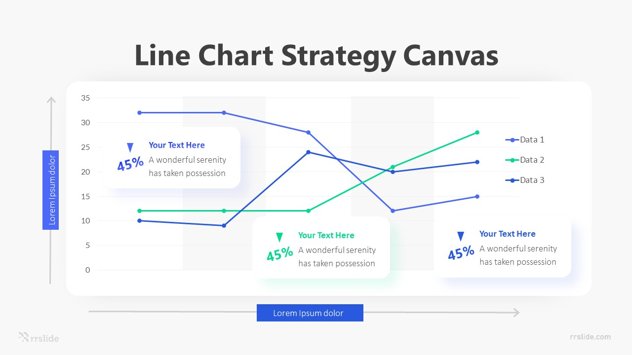 Line Chart Strategy Canvas Infographic Template