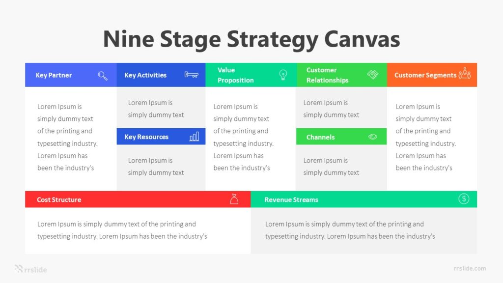 Nine Stage Strategy Canvas Infographic Template