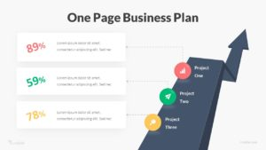 One Page Business Plan Infographic Template