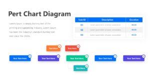Pert Chart Diagram Infographic Template