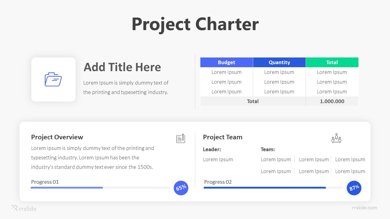 Project Charter Infographic Template