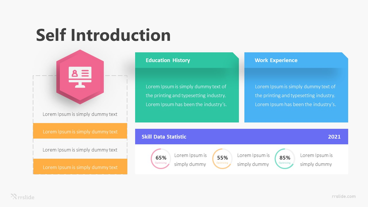 Self Introduction Infographic Template
