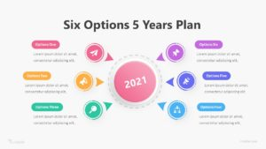 Six Options 5 Years Plan Infographic Template
