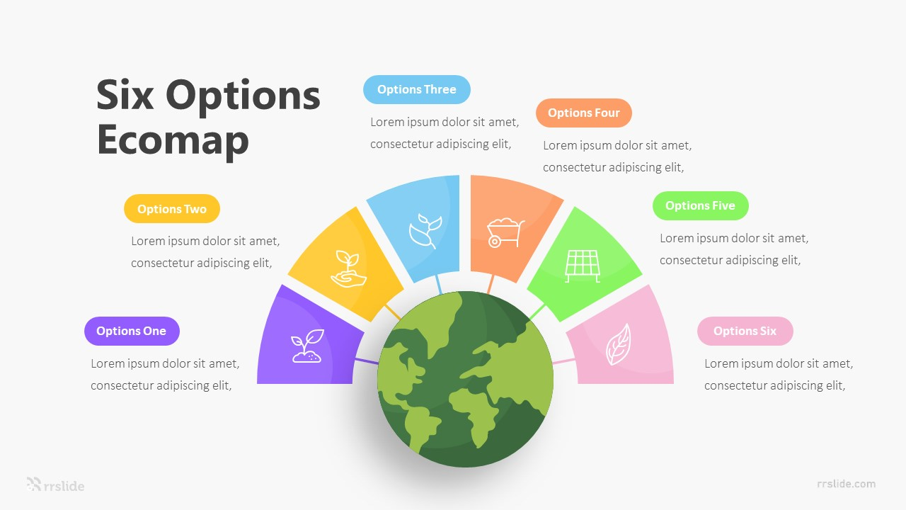 Six Options Ecomap Infographic Template