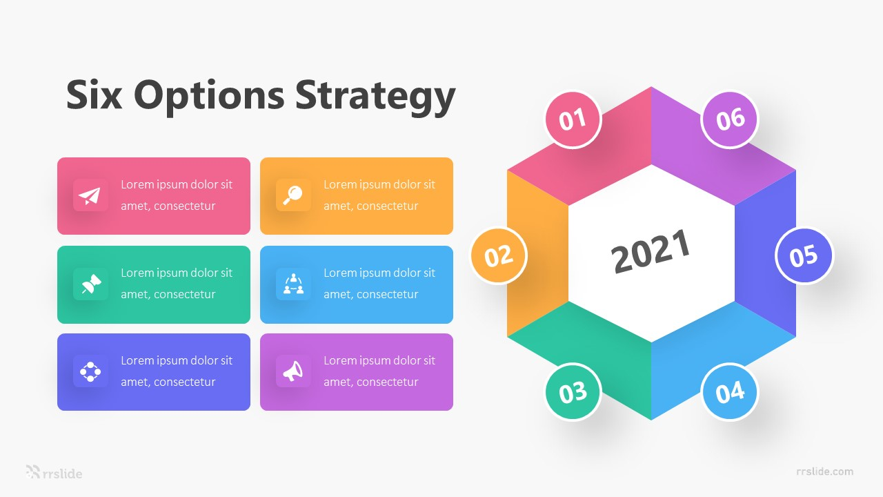 Six Options Strategy Infographic Template