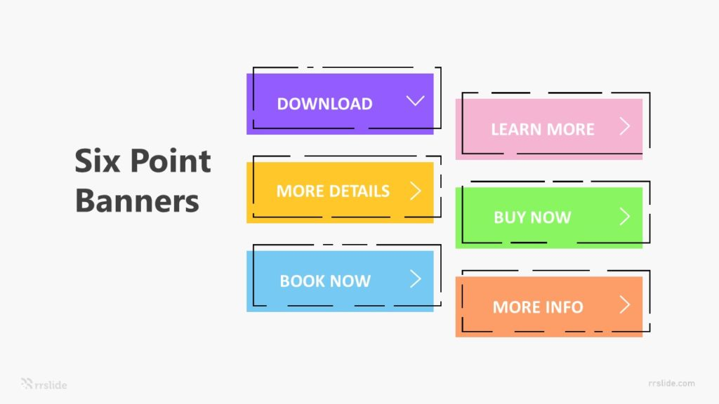 Six Point Banners Infographic Template