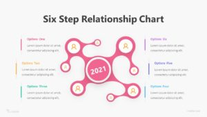 Six Step Relationship Chart Infographic Template