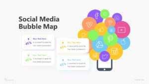 Social Media Bubble Map Infographic Template