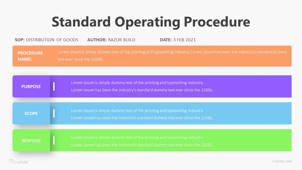 Standard Operating Procedure Infographic Template