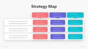 Strategy Map Infographic Template