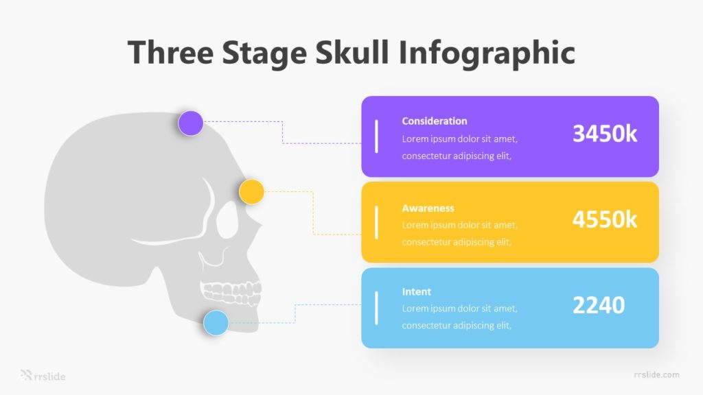 Three Stage Skull Infographic Template
