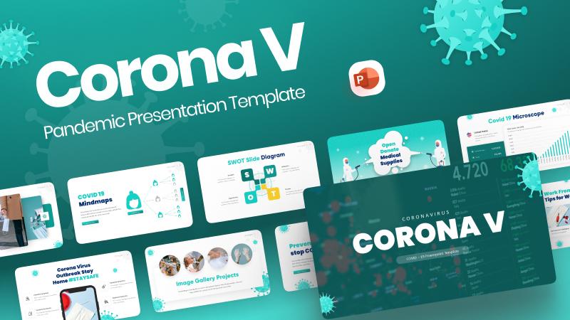 Corona V Pandemic PowerPoint Template