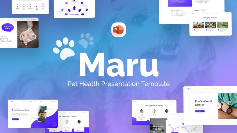 Maru Pet Health PowerPoint Template