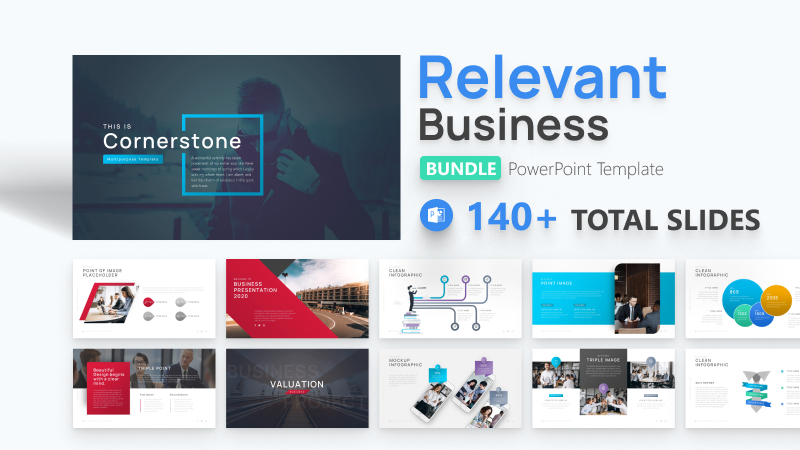 140+ Relevant Business Bundle PowerPoint Template