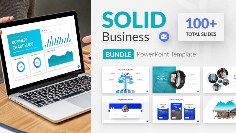 100+ Solid Business Bundle PowerPoint Template