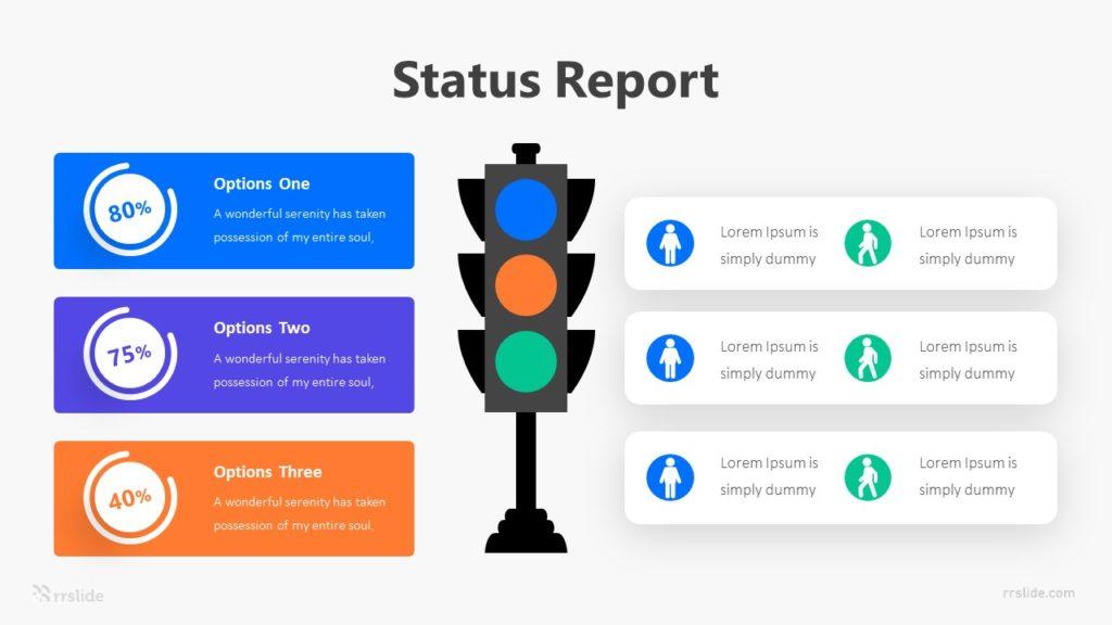 Status Report Infographic Template