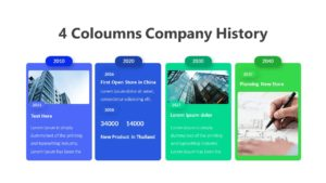 4 Coloumns Company History Infographic Template