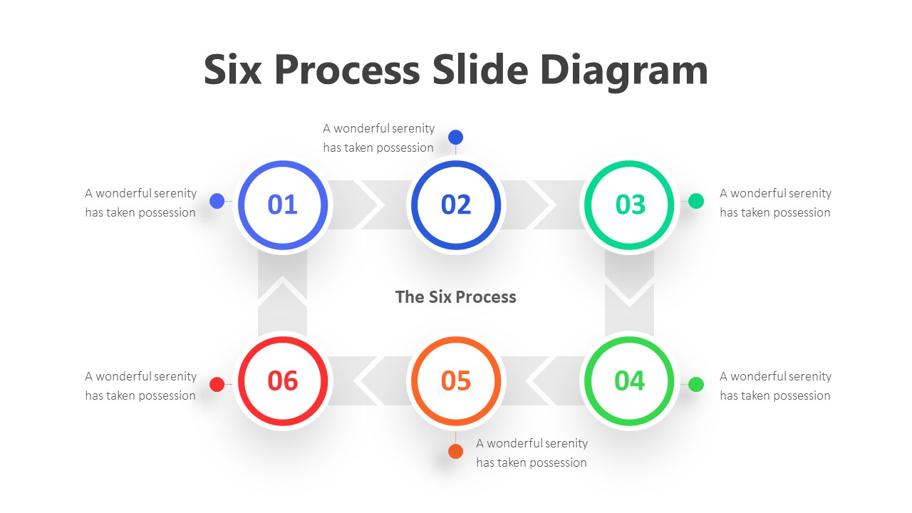 Six Process Slide Diagram Infographic Template