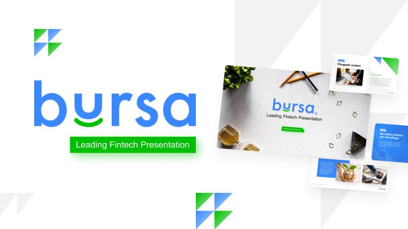 Bursa Professional Fintech PowerPoint Template