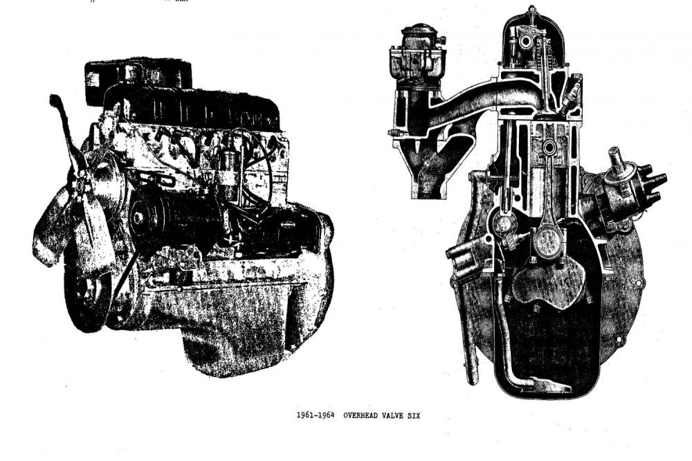 medium resolution of in 1961 the l head 169 6 cubic inch engine was converted to overhead valve improving the breathing through larger valves and better manifolding