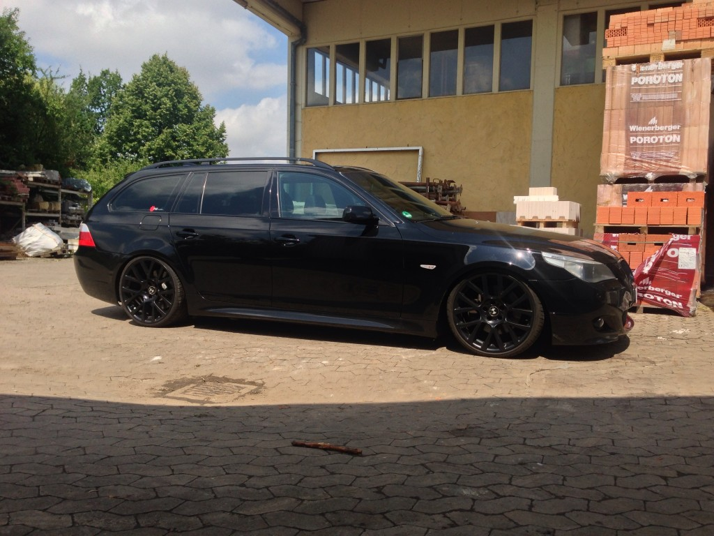 bmw 535d e61 mit e65 felgen rs klinik. Black Bedroom Furniture Sets. Home Design Ideas