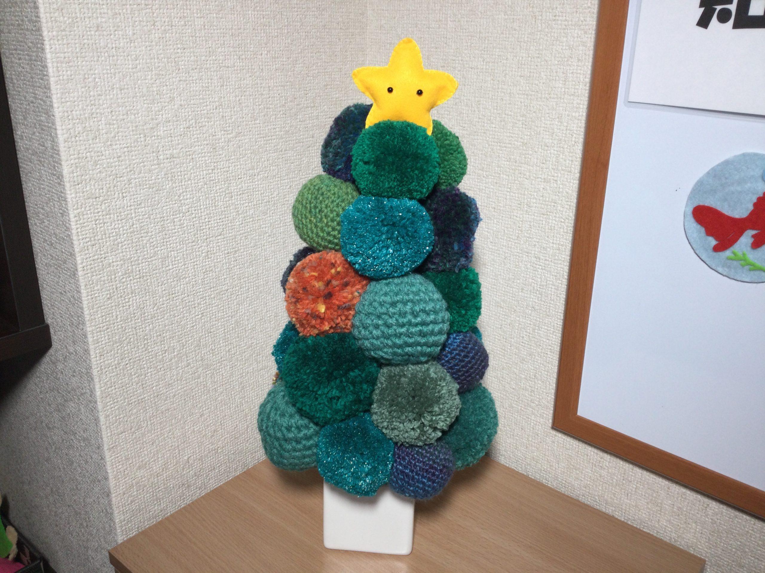 【嫁ブログ】手作り・ボンボンクリスマスツリー 発泡スチロール編 その2 ツリーを作る〔126〕