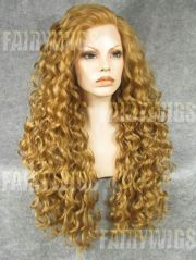 mysterious long blonde female wavy
