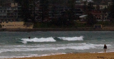 0940: big excitement under lowering skies with a steady onshore.