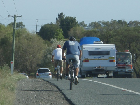 Dave and Foulsh heading towards Batemans Bay