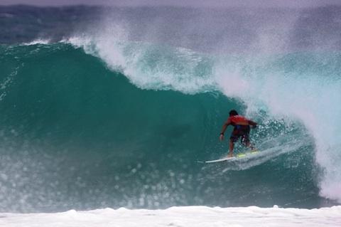 Joel Parkinson (AUS), 27, has won the Quiksilver Pro Gold Coast, defeating fellow finalist Adriano de Souza (BRA), 22, in solid six-to-eight foot (3 metre) surf at Kirra.