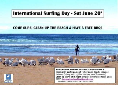Celebrate surfing with a beach clean up and a bbq put on by the Northern Beaches Surfrider Foundation crew.