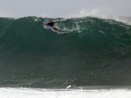 The bigger set waves just a little nutty.