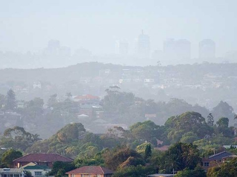 Hazy Monday in Sydney