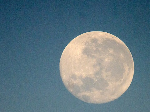 A full moon last night