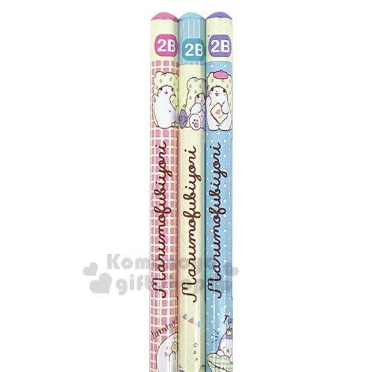 〔小禮堂〕抹布熊 六角鉛筆組《3入.米綠》2B鉛筆.學童文具.輕鬆時光系列 - 小禮堂卡通百貨