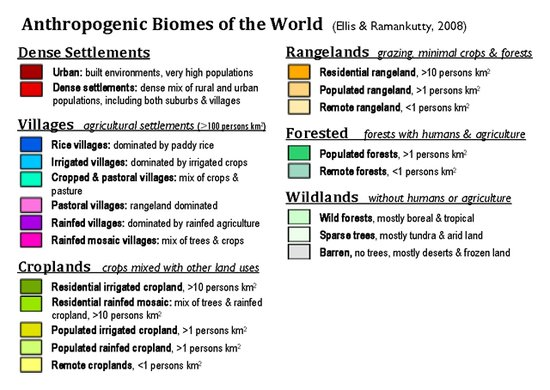 Mapping The Anthropocene Anthropegenic Biomes Resilience Science