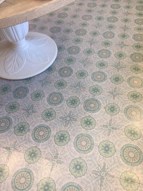 round hardwood tile by mirth studio
