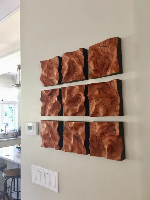 Abstract Wood Art : abstract, Abstract, Hornischer, Sculptures, Private, Residence,, Berkeley, Wescover