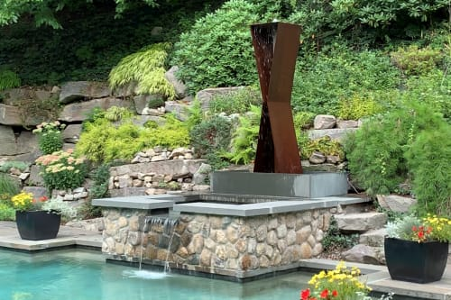 Modfountain Modern Fountains For Modern Landscapes Public Sculptures And Plants Landscape Wescover
