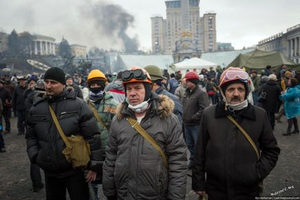 Blood on the streets in Ukraine