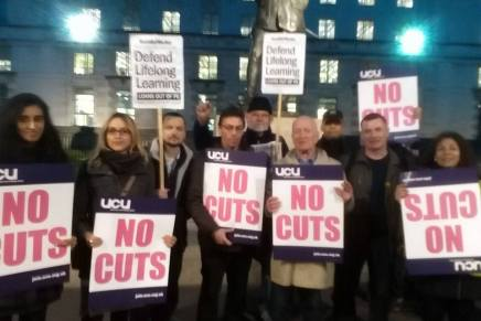 Action against the 24% cut in Adult funding