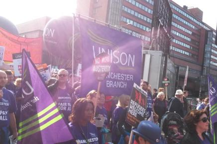 Rolling coverage from Manchester anti-austerity demo