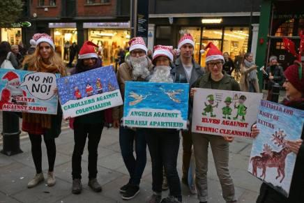 Festive action targets Israeli apartheid